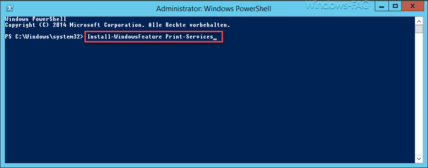 Windows Feature mit PowerShell installieren