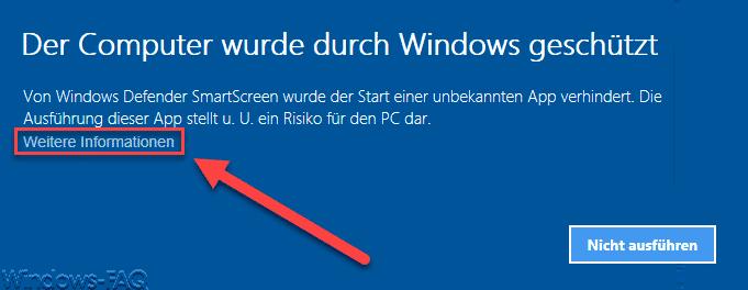 Der Computer wurden durch Windows geschützt.