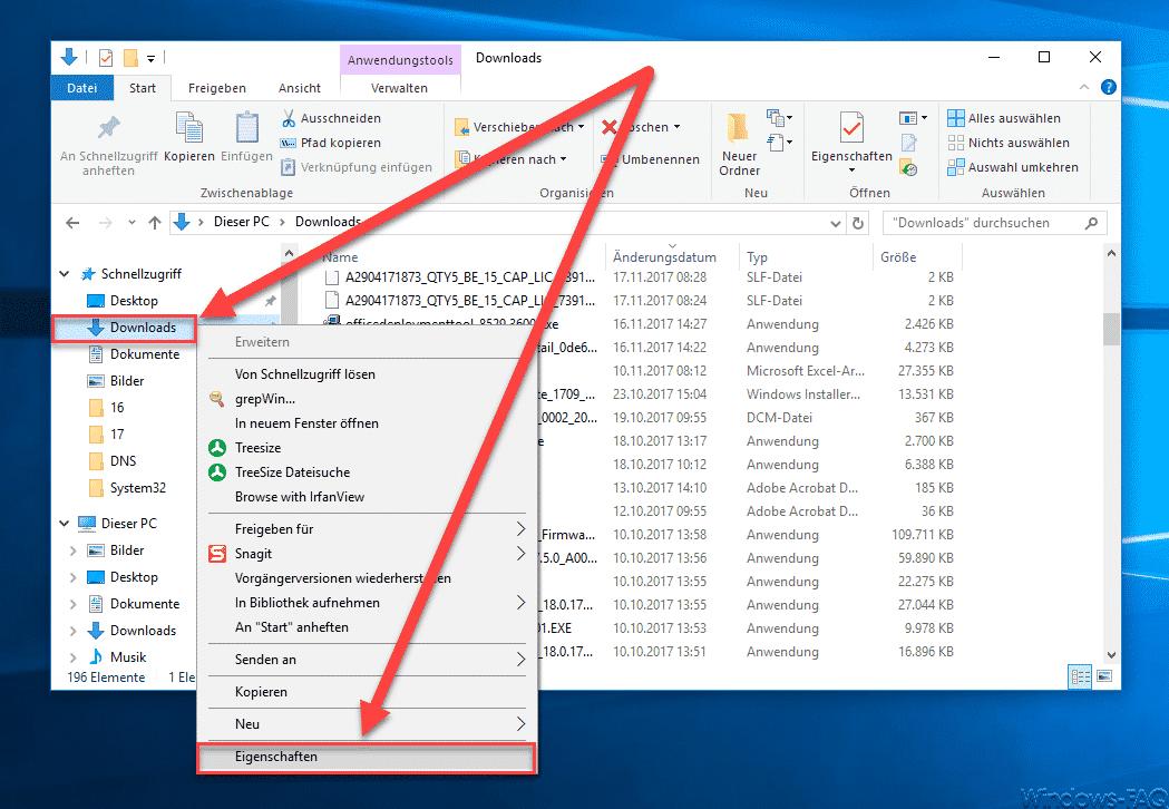 Download Ordner Eigenschaften