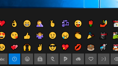 Emojis in Windows 10 nutzen