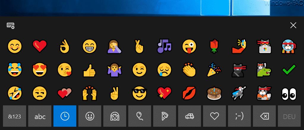 Emojis unter Windows 10 nutzen