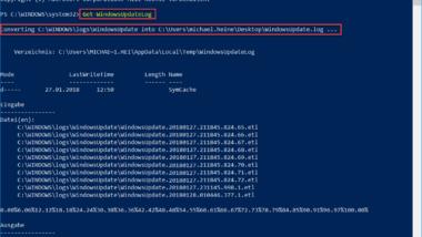 WindowsUpdate.log bei Windows 10 auslesen bzw. per PowerShell umformatieren