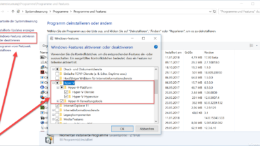 Hyper-V bei Windows 10 installieren