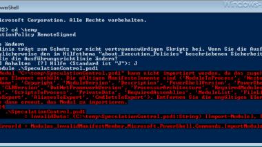 SpeculationControl für Meltdown/Spectre unter Windows 7 ausführen