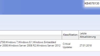 KB4078130 soll Neustarts der Spectre 2 Windows Updates beseitigen
