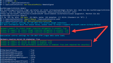 BIOS Update zwingend erforderlich für Meltdown und Spectre Sicherheitslücken