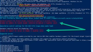 PC auf Meltdown und Spectre Sicherheitslücken überprüfen