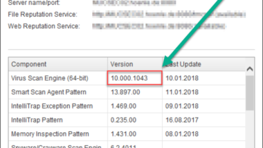 TrendMicro OfficeScan Upgrade auf Version 11.0.6496 SP1 für das Fall Creators Update