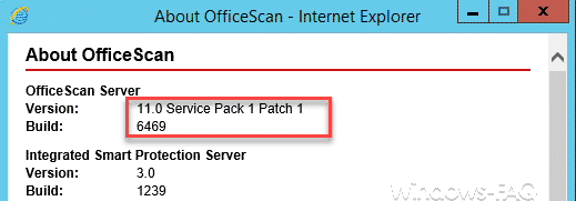 OfficeScan Server 11.0 SP1 Patch 1 Build 6469