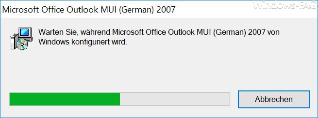 Outlook 2007 Reparatur