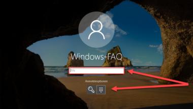 Anmeldung per PIN einrichten bei Windows 10