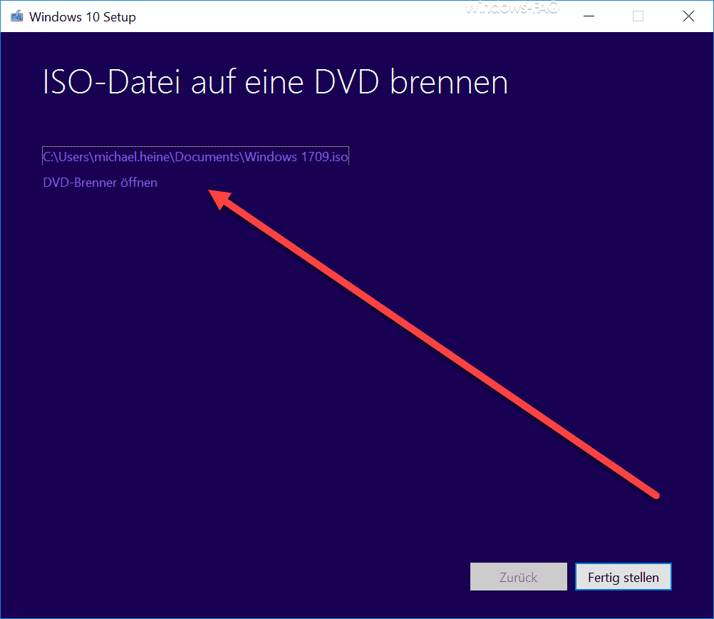 WIndows 10 ISO-Datei auf eine DVD brennen