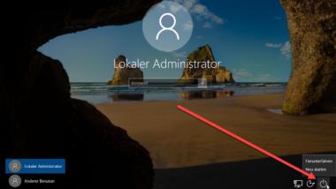 Shutdown Icon vom Windows Anmeldebildschirm per GPO entfernen