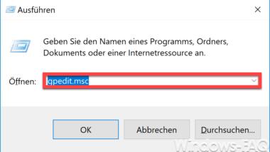 """""""Ausführen"""" aus dem Startmenü entfernen und für den Anwender verbieten"""