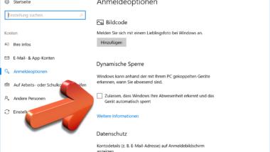 Windows 10 PC automatisch sperren, wenn Ihr den Arbeitsplatz verlasst – Dynamische Sperre