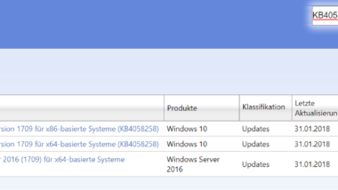 KB4058258 Stabilitätsupdate für Windows 10 Version 1709 Download 16299.214