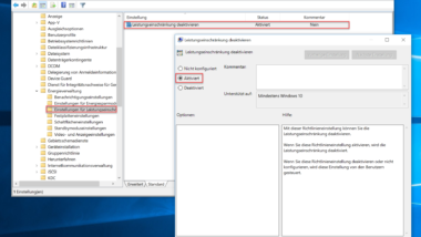 Power Throttling bei Windows 10 per GPO abschalten