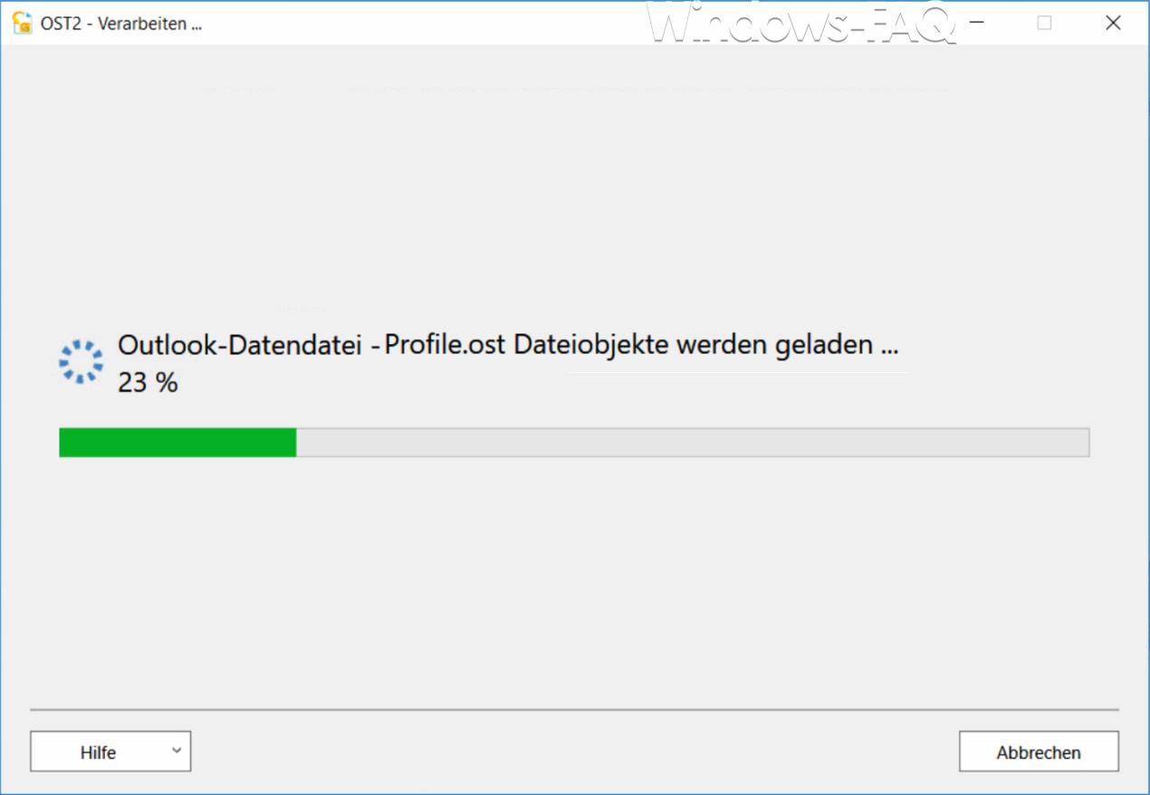 OST2 Outlook Datendatei - Dateiobjekte werden geladen ...