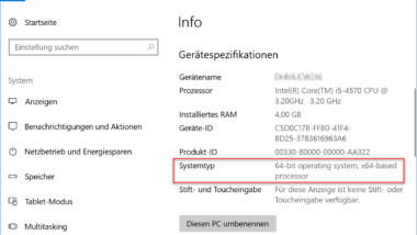 Abfragen ob ein 32- oder 64-Bit Windows installiert ist