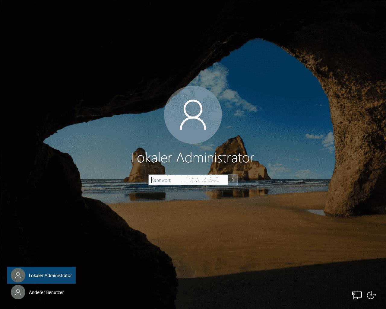Windows Anmeldung ohne STRG + ALT + ENTF