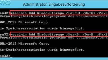 Schattenkopien Fehler bei der Initialisierung Fehlercode 0x80070005 Zugriff verweigert