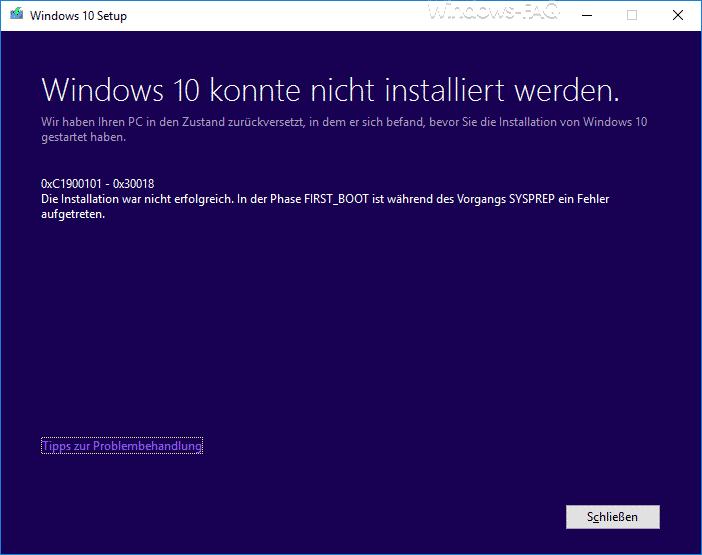 0xC1900101 - 0x30018