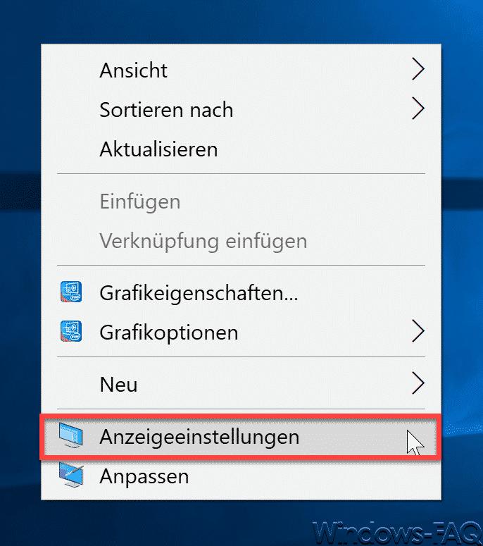 Anzeigeeinstellungen Windows 10