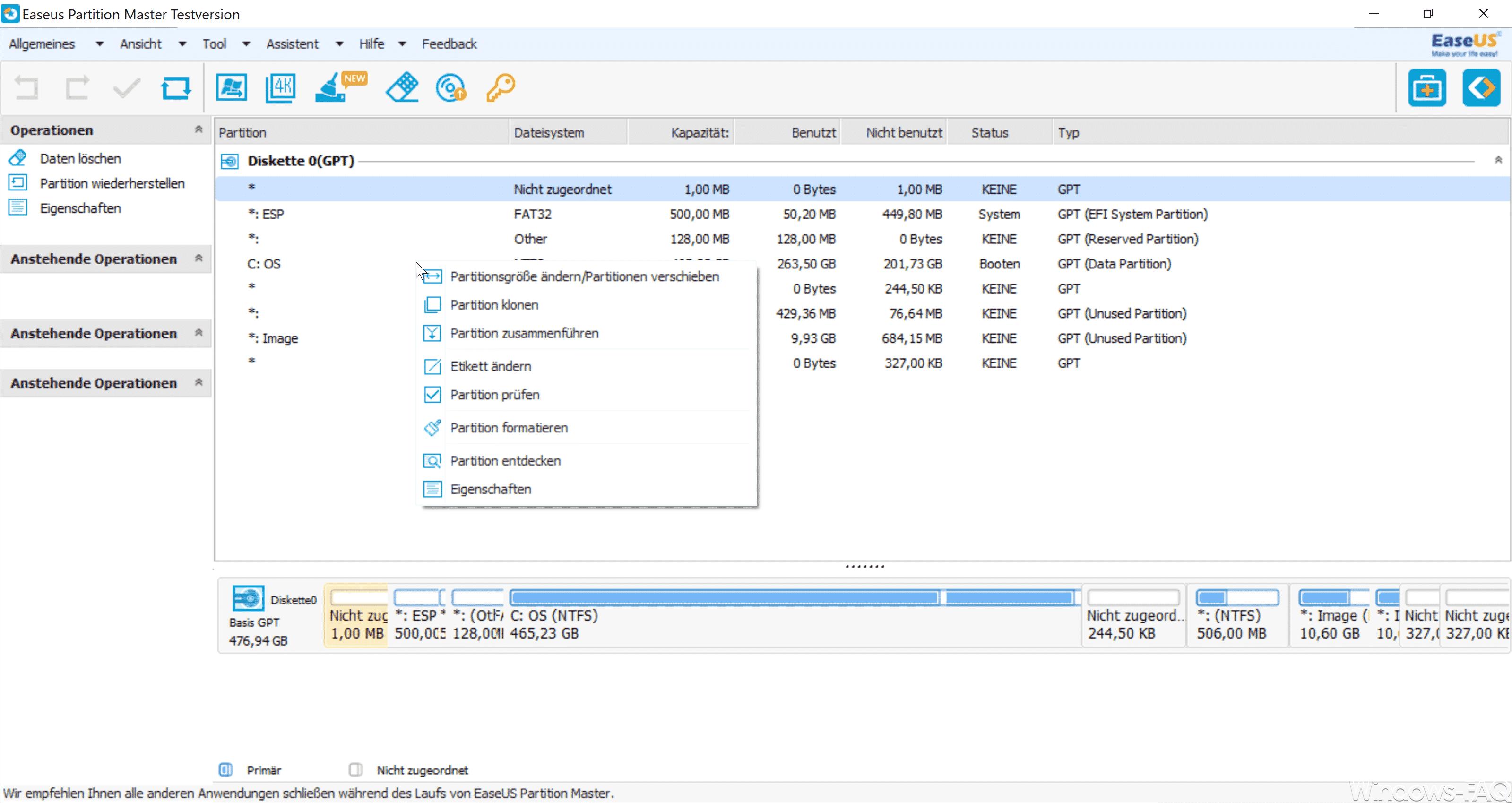 EaseUS Partition Master 12.9 Features