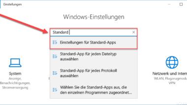 Windows 10 Standard Apps zurücksetzen