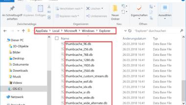 Löschen des Thumbnail Cache deaktivieren bei Windows 10