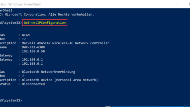 Ping, IPConfig und Tracert als PowerShell Befehle