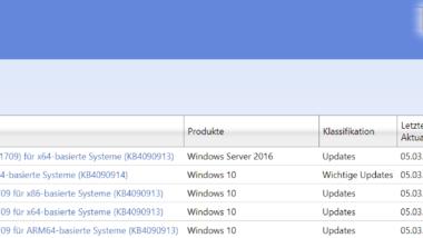 KB4090913 Download für Windows 10 Version 1709 Build 16299.251