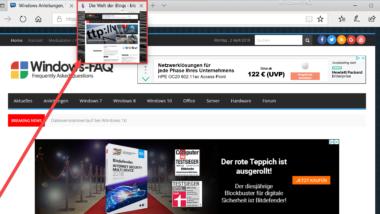 Tab Vorschaufenster beim Edge Browser deaktivieren bzw. aktivieren