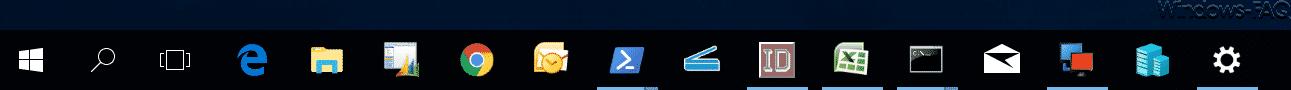 Gruppierte Taskleistensymbole