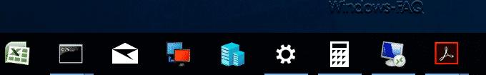 Icons der Taskleiste wiederhergestellt