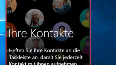 Kontakte Icon aus Windows 10 Taskleiste entfernen
