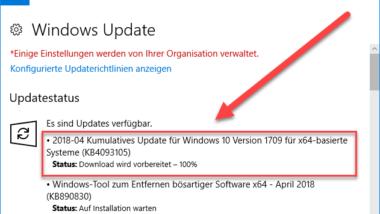 KB4093105 Download für Windows 10 Version 1709 Build 16299.402