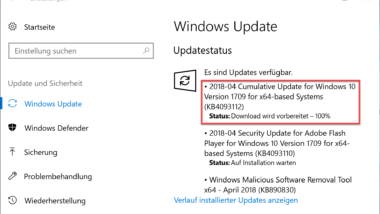 KB4093112 Update für Windows 10 Version 1709 Download Build 16299.371