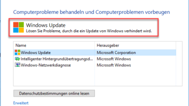 Error 0x80244010 beim Windows Update