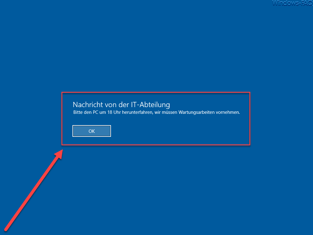 Nachricht vor der Windows Anmeldung anzeigen