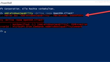 SSL Client Installation Error 0x800f0954