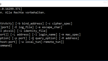 SSH Client unter Windows 10 installieren