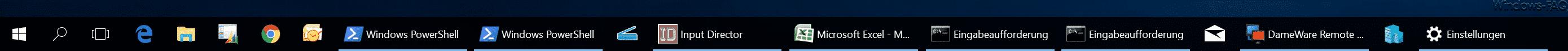Ungruppierte Taskleistensymbole