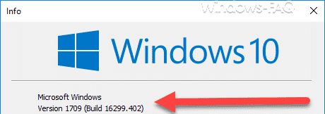 Version 1709 Build 16299.402