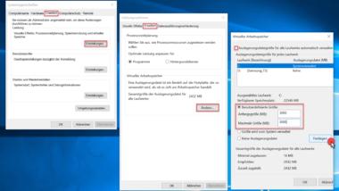 Größe der Windows Auslagerungsdatei pagefile.sys ändern