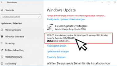 Update KB4100403 Download für Windows 10 Version 1803 Build 17134.81