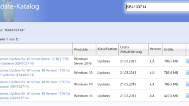 KB4103714 Update Download für Windows 10 Version 1709 Build 16299.461