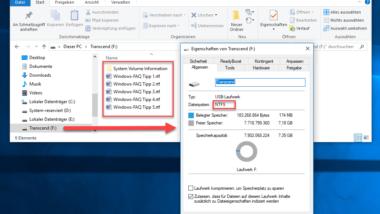 FAT32-Datenträger ohne Datenverlust in NTFS Format konvertieren