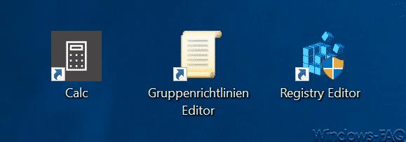 Shortcuts für Programme