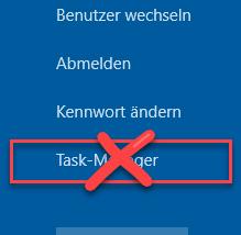 Task-Manager sperren bzw. deaktivieren und Aufruf verhindern